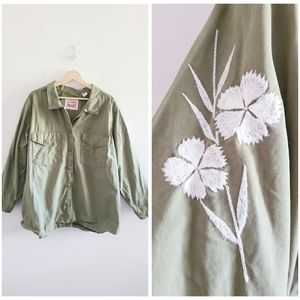 Levis Plus Size Green Embroidered Jacket